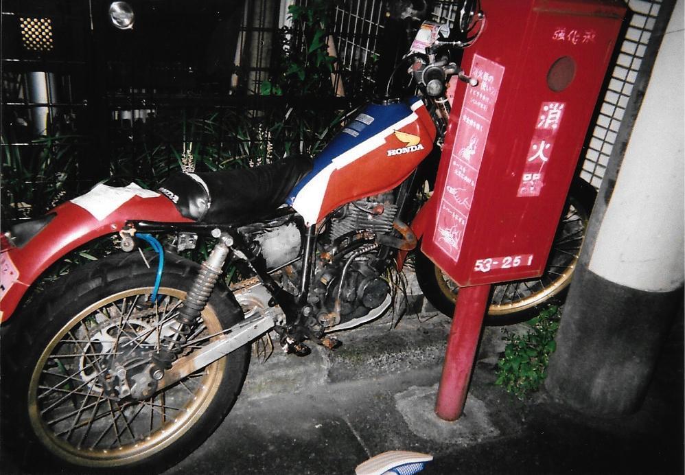 The red bike 2015-09 Tokyo, Shibuya Fujicolor 1600 Hi-speed