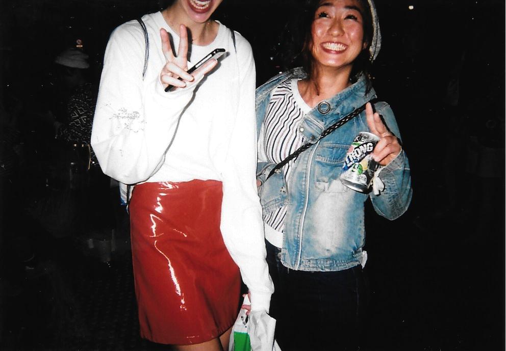Leather Skirt Lulu & Yuri 2015-09 Tokyo, Shibuya Fujicolor 1600 Hi-speed
