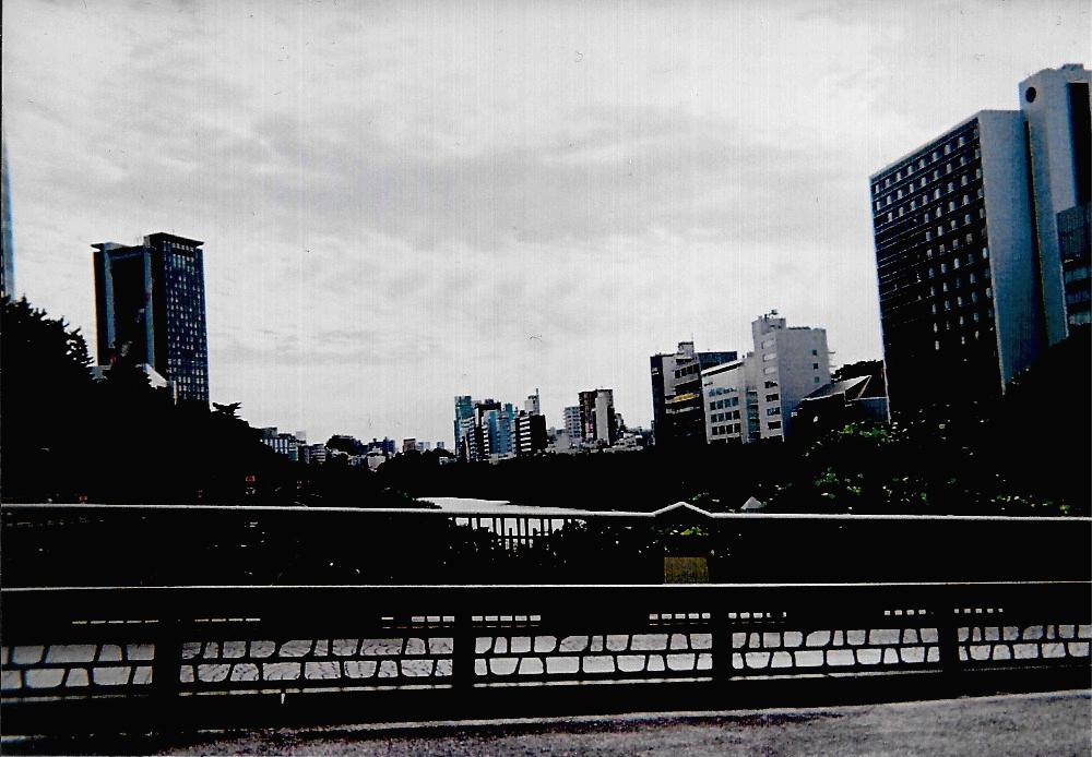 Buildings 2015-10 Tokyo, Iidabashi Fujicolor 1600 Hi-speed